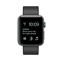 Space Gray Aluminum Case with Black Woven Nylon 38mm Series 2