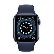 Apple Watch Blue Aluminum Case with Deep Navy Sport Band 40mm Series 6
