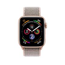 Apple Watch Gold Aluminum Case with Pink Sand Sport Loop 44mm Series 4 GPS