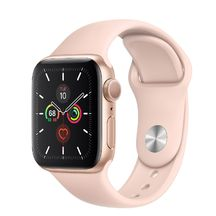 Apple Watch Gold Aluminum Case/Pink Sand Sport band 44mm Series 5