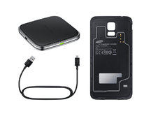 KIT Wireless Charging Pad + Wireless Cover за Galaxy S5