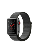 Apple Watch Gray Aluminum Case with Dark Olive Loop 38mm Series 3 GPS + Cellular