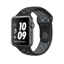 Space Gray Aluminum Black/Cool Gray Nike Sport 42mm Series 2