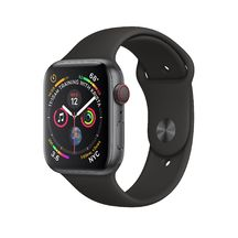 Apple Watch Space Gray Aluminum Case/Black Band 44mm Series 4 GPS + Cellular