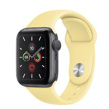 Apple Watch Space Gray Aluminum Case/Lemon Cream Sport Band 40mm Series 5