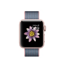 Rose Gold Aluminum Light Pink/Midnight Blue Woven Nylon 38mm Series 2