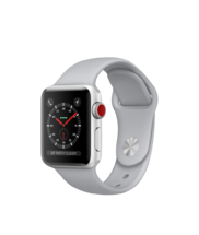 Apple Watch Silver Aluminum Case with Fog Sport Band 38mm Series 3 GPS + Cellular