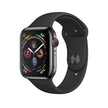 Apple Watch Black Stainless Steel with Black Sport Band 44mm Series 4 GPS + Cellular
