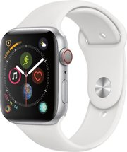 Apple Watch Silver Aluminum Case with White Sport Band 44mm Series 5 GPS + Cellular