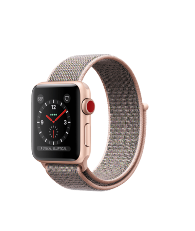 Apple Watch Gold Aluminum Case with Pink Sand Loop 38mm Series 3 GPS + Cellular