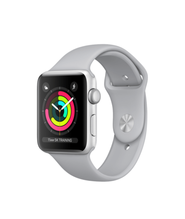Apple Watch Silver Aluminum Case with Fog Band 42mm Series 3 GPS
