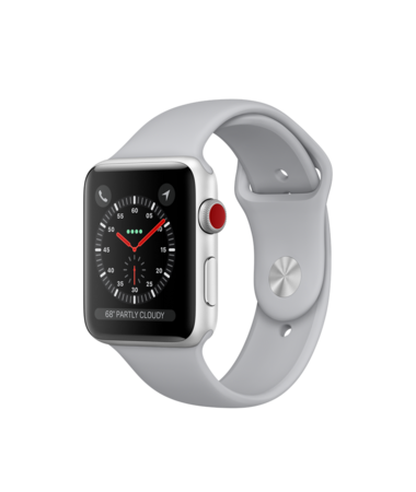 Apple Watch Silver Aluminum Case with Fog Sport Band 42mm Series 3 GPS + Cellular