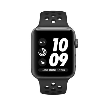 Space Gray Aluminum Anthracite/Black Nike Sport 38mm Series 2