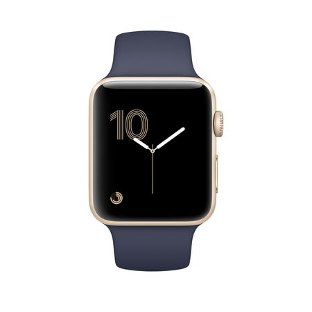 Gold Aluminum Midnight Blue Sport Band 38mm Series 1