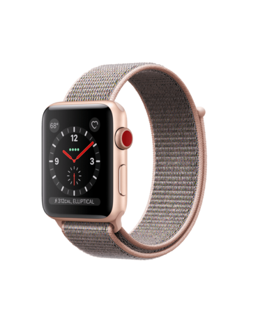 Apple Watch Gold Aluminum Case with Pink Sand Loop 42mm Series 3 GPS + Cellular